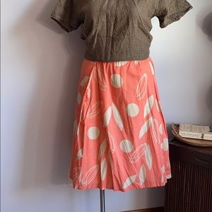 Lane Bryant Peach Pink Abstract Floral Skirt